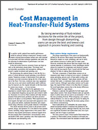 Cost Management in Heat Transfer Fluid Systems